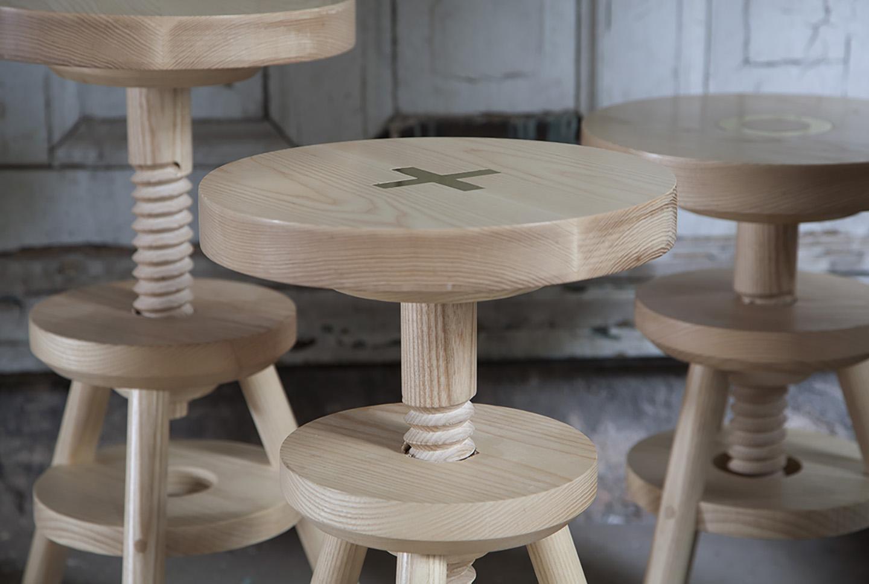 Screw top stools anna karlin - Screw top bar stools ...